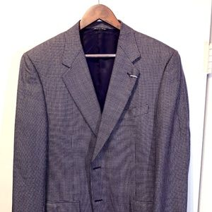 Canali Sportcoat - Black, Gold, Blue - 54EU/45US